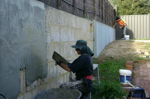 Plastering makeovers sand finish cement render external - Painting exterior walls rendered ...